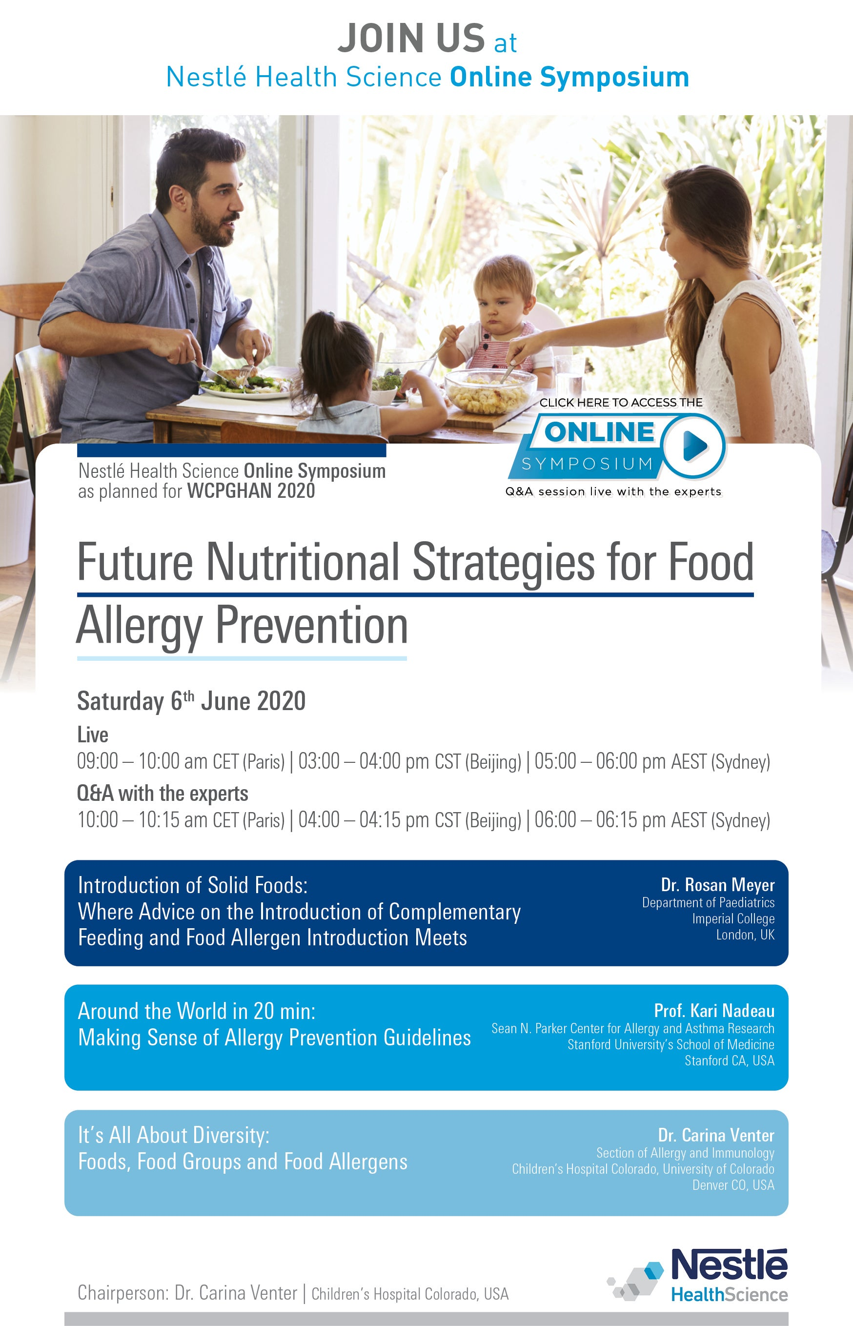 NHSc online symposium – Future Nutritional Strategies for Food Allergy Prevention