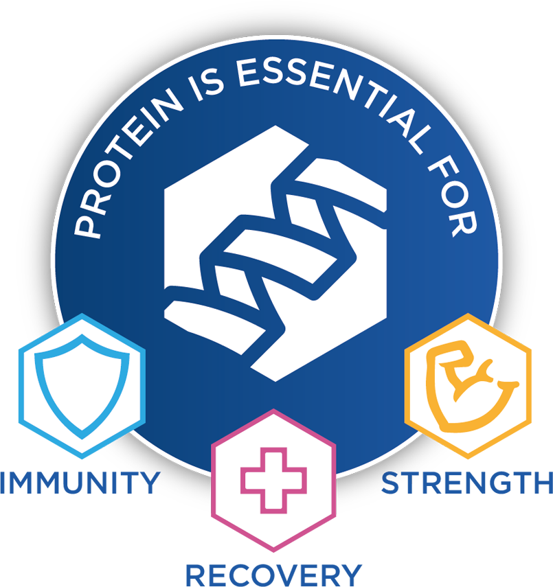 protein is essential for immunity, healing, and strength